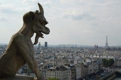 Paris staden av romans Arkivfoto
