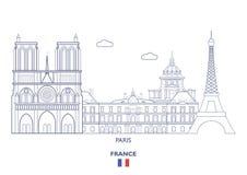 Paris-Stadt-Skyline, Frankreich Lizenzfreies Stockbild