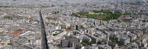 Paris-Stadtbildvogelperspektivepanorama Stockfotografie