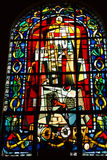 Paris. Stained glass in the Church of St. Peter in Montmartre stock photography