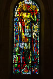 Paris - Stained glass in the Church of St. Peter in Montmartre Royalty Free Stock Photo