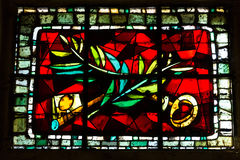Paris - Stained glass in the Church of St. Peter in Montmartre Stock Photography