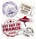 Paris Stamp Royalty Free Stock Images