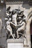 Paris, Statue des Brunnen-Saint Michel Stockbild