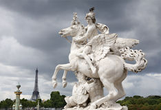 Paris - statue from entry to Tuileries garden Royalty Free Stock Photos
