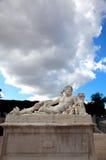 Paris - Statue From Tuileries Garden Near Louvre Stock Image