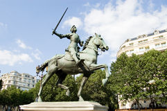 Paris Statue of Joan of Arc. One of the five statues of Joan of Arc in Paris, France Stock Image