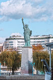 Paris, the Statue of Liberty on an island Royalty Free Stock Images
