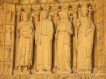 Paris - statue from Notre Dame portal Stock Images