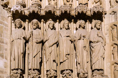 Paris: statues of Notre Dame Royalty Free Stock Photo