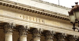 Paris stock exchange Stock Image