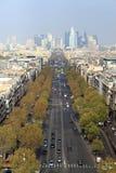 Paris-Straßen-Luftaufnahme Stockbilder