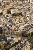 Paris-Straßen von oben Stockfotos