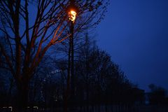 Paris-Straßenbeleuchtung mit Ferris Wheel Lizenzfreies Stockbild