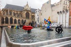 Paris. Stravinsky Fountain. Royalty Free Stock Photos