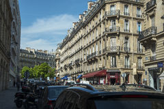 Paris street architecture early morning Royalty Free Stock Images