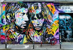 Paris street art in tribute to Serge Gainsbourg Royalty Free Stock Photos