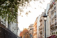 Paris Street in Autumn royalty free stock images