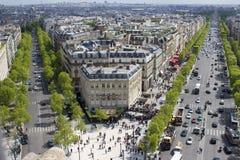 Champs Elysees. Paris, street, avenue, Champs-Élysées Royalty Free Stock Photography