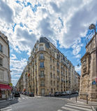 Paris street crossing Royalty Free Stock Photography