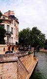 Paris street embankment royalty free stock images