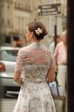 Paris street fashion flower Stock Image