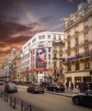 Paris street. Paris,france - september 15- 2014 Royalty Free Stock Image