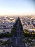 Paris Street Fron Arc du Triumph. Paris Street travel photo Stock Image