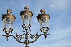 Paris street lantern Royalty Free Stock Image