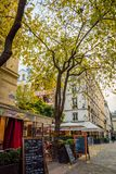 Paris street in Les Halles district Royalty Free Stock Photography