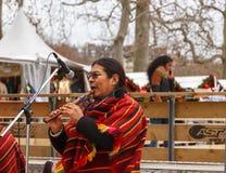 Paris. Street musicians. Royalty Free Stock Photo