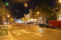 Paris street at night Stock Photography