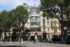 Paris street scene, France Stock Images
