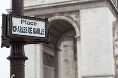 Paris street sign Royalty Free Stock Photos