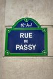 Paris street sign Royalty Free Stock Photography