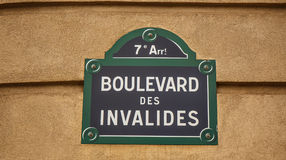 Paris street sign. Stock Photography