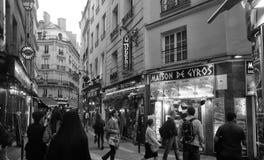 Paris Street View Stock Photo