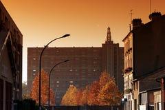 Paris suburb in autumn season Royalty Free Stock Photography