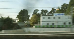 Paris suburb seen from train stock video footage