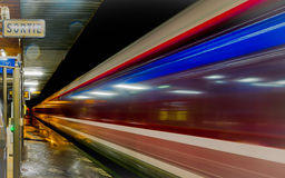 Paris suburban railway station Royalty Free Stock Photos
