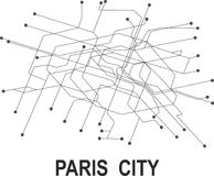 Paris  City map. Paris subway map available in vector file format Stock Image