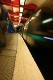 Paris Subway - Motion Blur Royalty Free Stock Photo