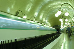Paris subway station Stock Photo