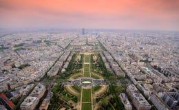 paris sundown Fotografering för Bildbyråer