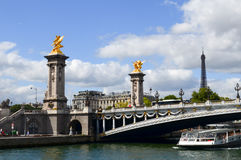 Paris. Sunny summer day, Pont Alexandre III, Paris Royalty Free Stock Photography
