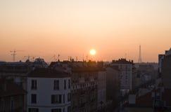 Paris at sunrise. Paris view at sunrise with Eiffel towel, France Royalty Free Stock Photo