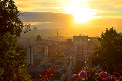 Paris sunrise Stock Image