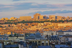 Paris at sunset Stock Photos