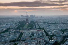 Paris at sunset Royalty Free Stock Photos