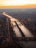 Paris at sunset Stock Image